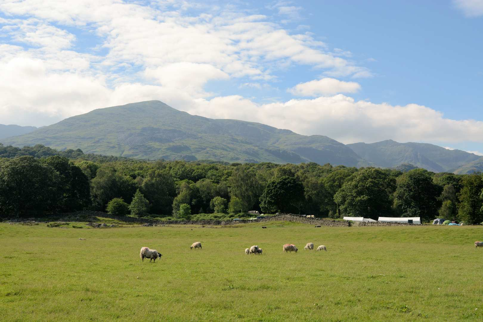 View of Coniston Old Man on the Cumbria Way