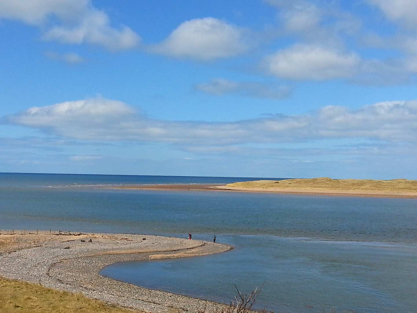 The seaside at Eskmeal Dunes, Cumbria, perfect for a walking holiday
