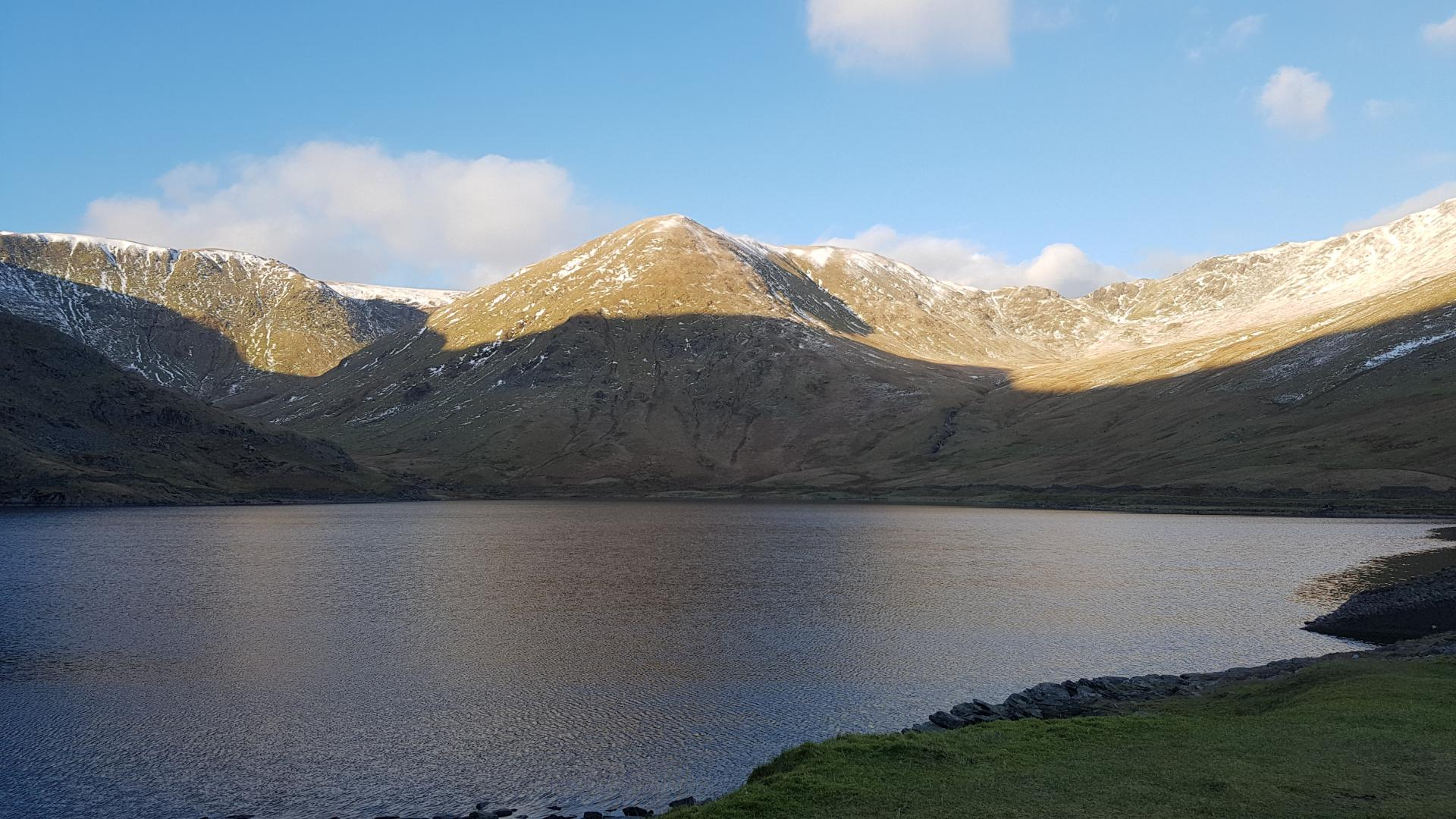 The man-made Kentmere Reservoir