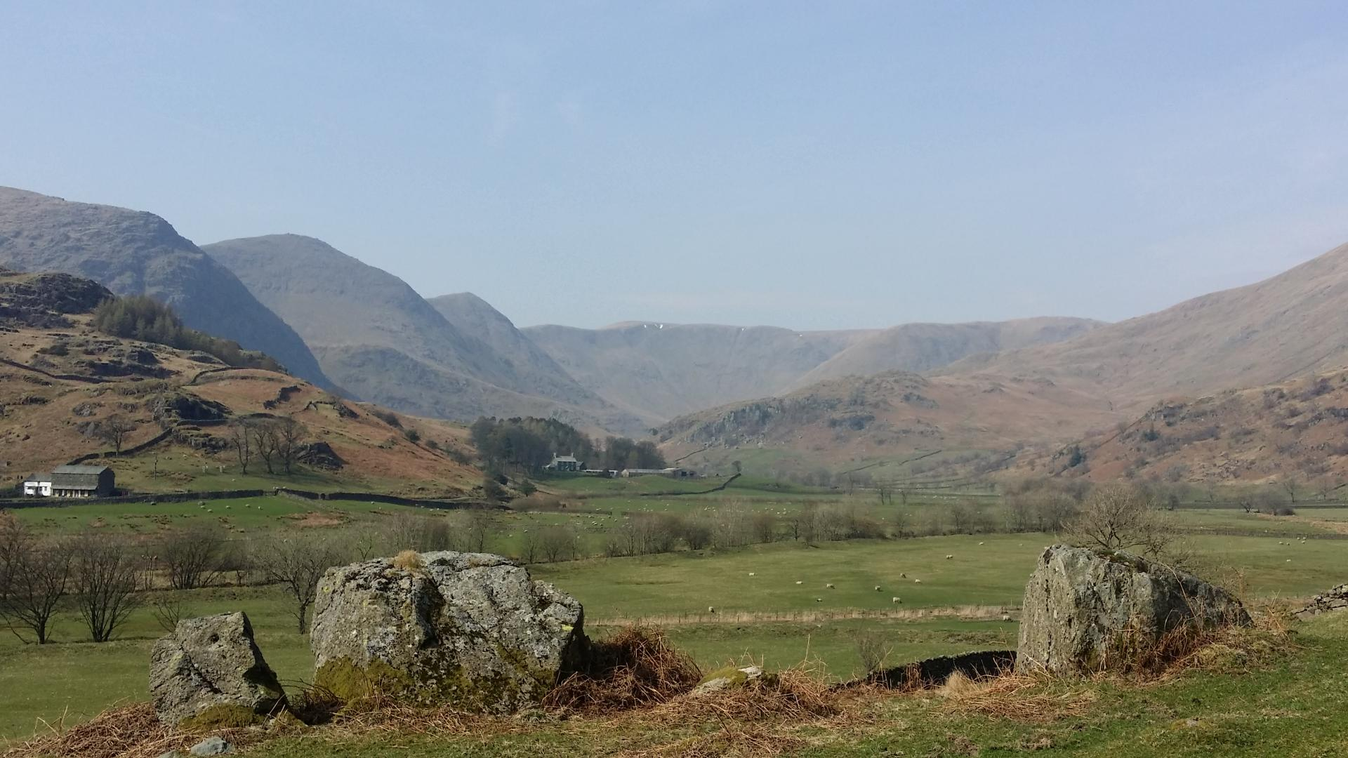Walking Kentmere Valley past old mines