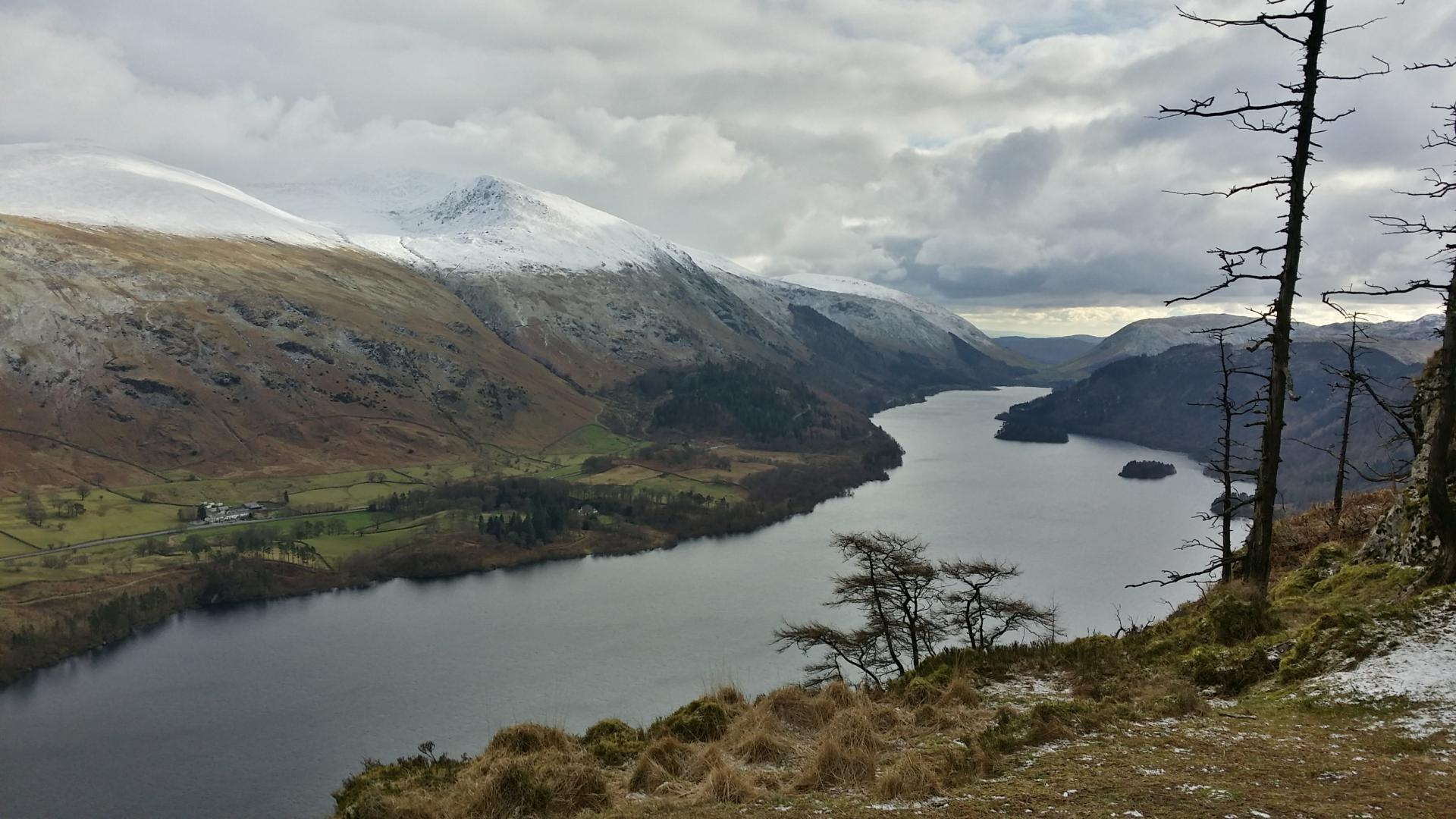 Stunning views of the man-made reservoir from Raven Crag