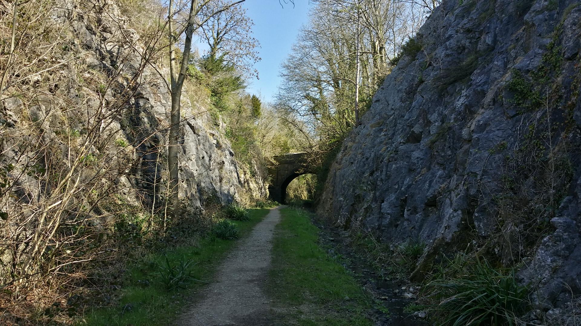 The perfect man-made walking trail beneath the disused railway line from Arnside to Hincaster