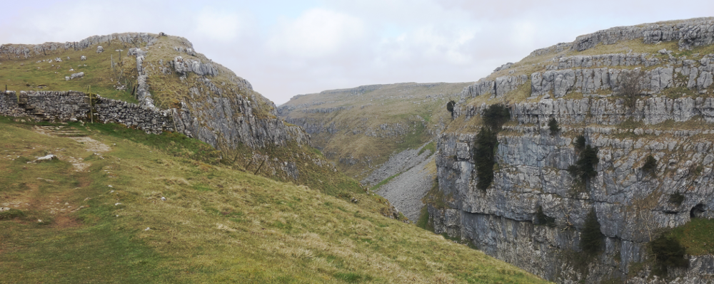 Three Dales Way: Above Gordale