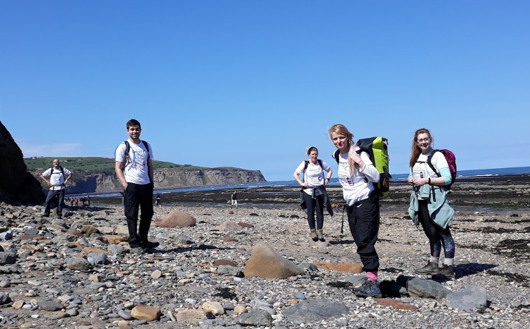 Cleveland Way 50th Anniversary: Contours on the beach