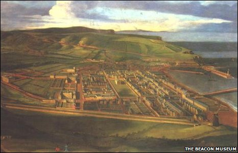 Birds Eye View of Whitehaven by Matthias Read - copyright Beacon Museum