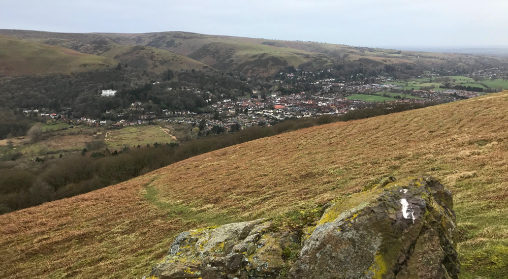 Shropshire Hills Walking Holiday: Church Stretton Below