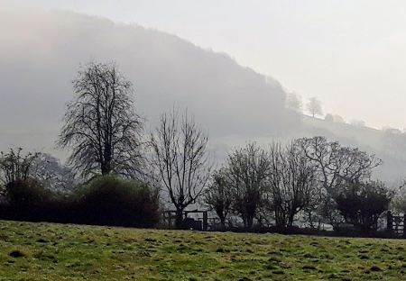 Usk Valley Walk: Clearing Mist