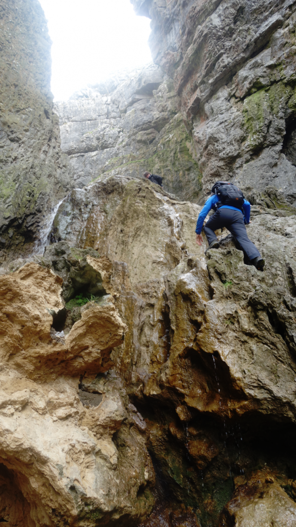 Three Dales Way: Climbing Gordale Scar