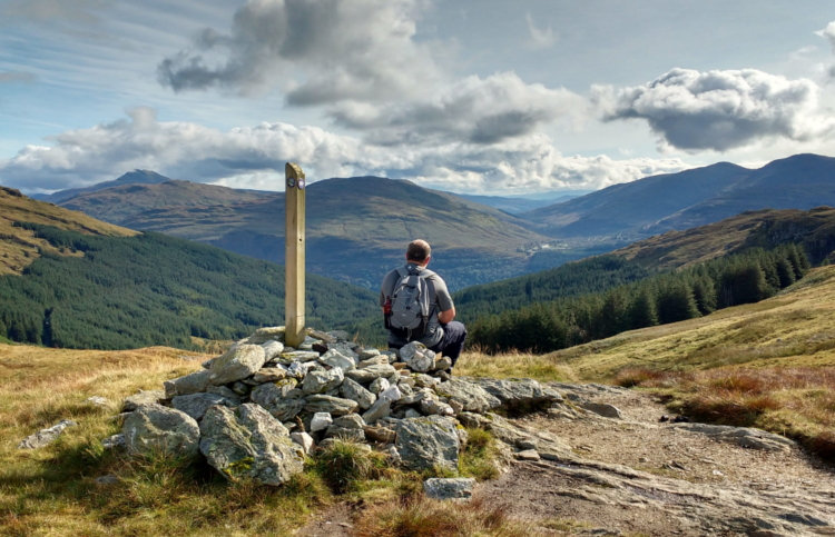 Loch Lomond and Cowal Way: Cairn between Lochgoilhead and Ardgarten by Janet Clapton