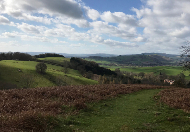 Shropshire Hills Walking Holiday: Hopesay Hill