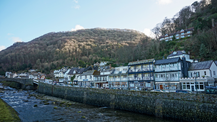 Lynmouth at the end of the Tarka Trail