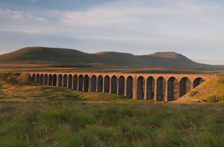 Ribbleshead Viaduct in Yorkshire