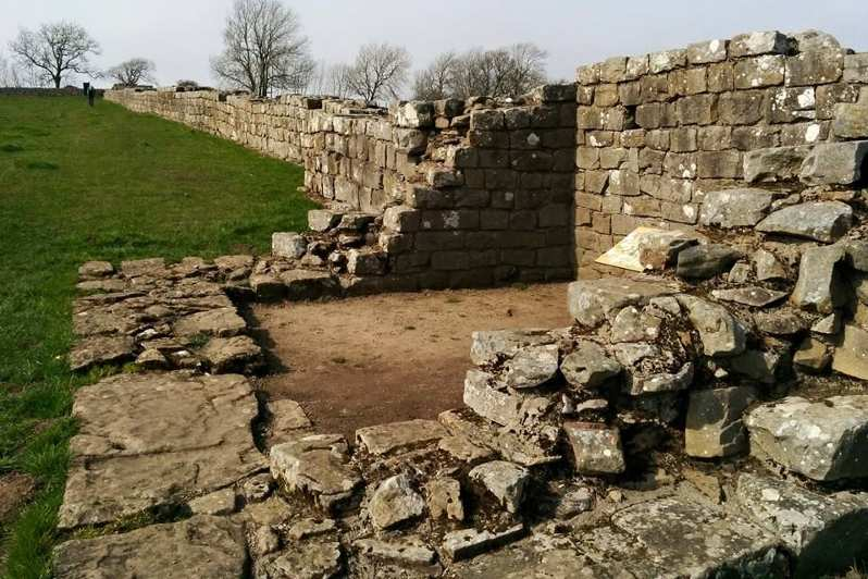 Hadrian's Wall Path in Spring: Roman Fort