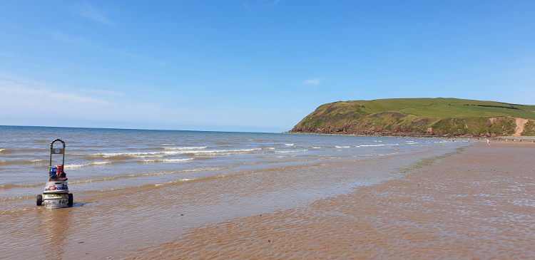 The Beach at St Bees in Cumbria
