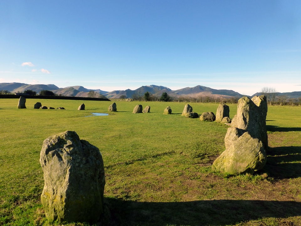 3. Castlerigg Stone Circle with Derwent Fells in the background