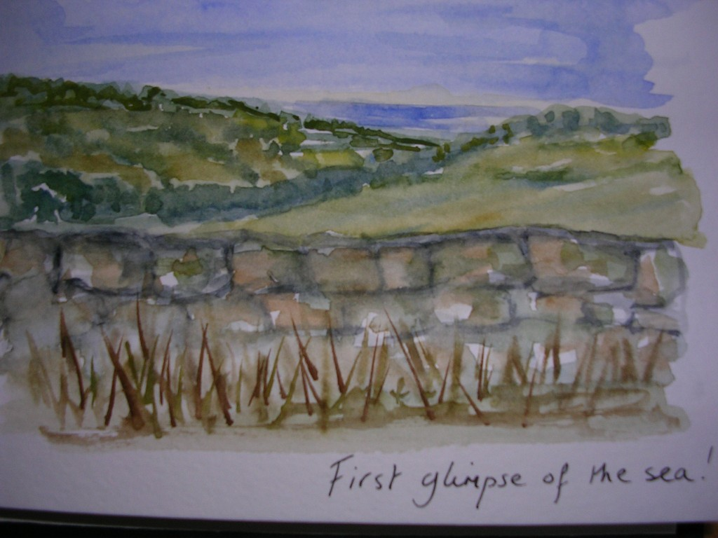 Watercolour: First Glimpse of the Sea