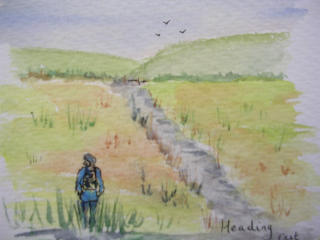 Watercolour: Heading Out