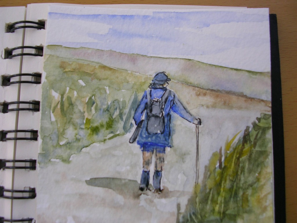 Watercolour: Phil on the Road