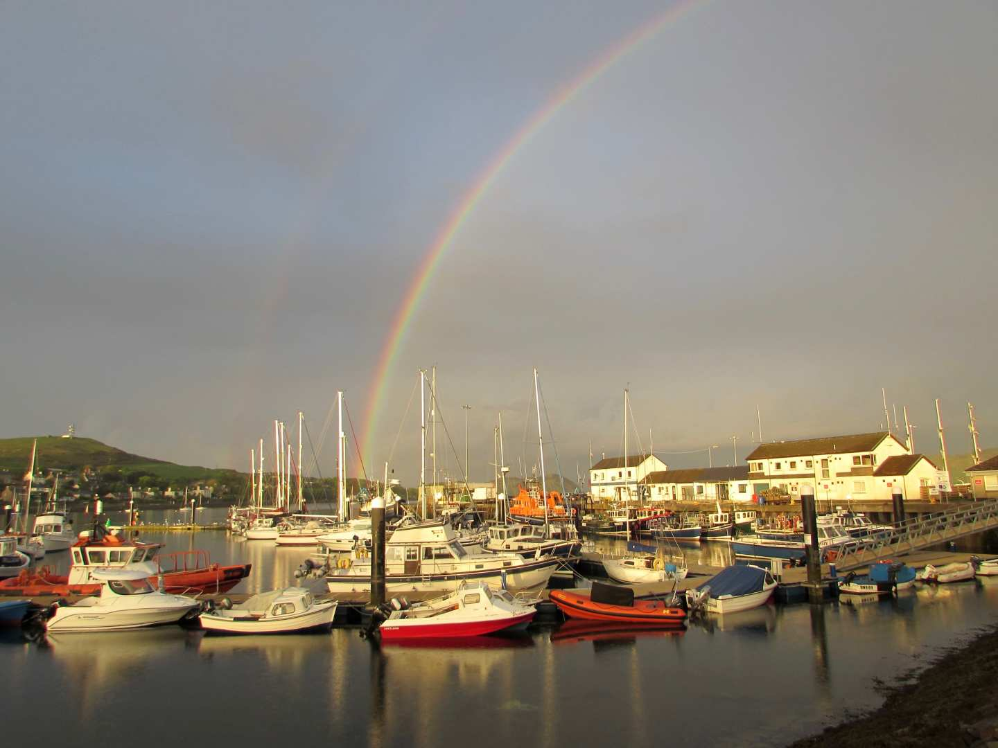 Rainbow over Campeltown Harbour