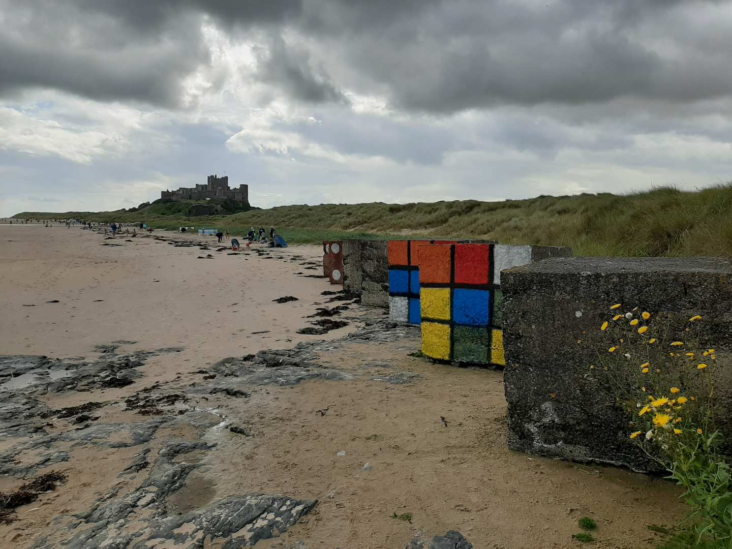 """Approaching Bamburgh Castle"" by Elizabeth Hurrell (2020)"