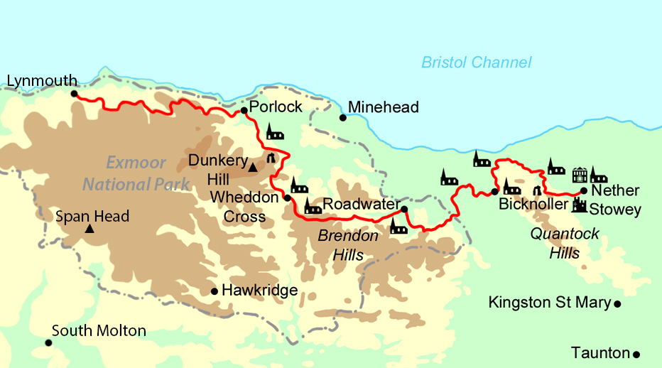 Coleridge Way map