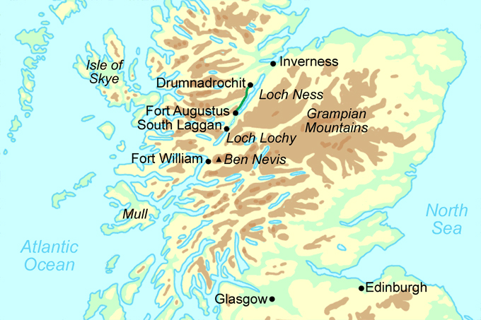 Great Glen Way Short Break  map
