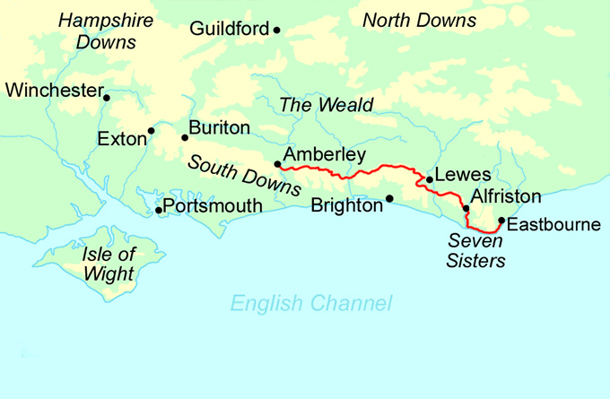 South Downs Way - East Section map